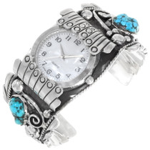 Vintage Turquoise Nugget Watch Cuff 39518