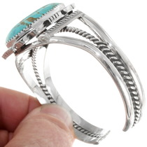 Navajo Sterling Silver Cuff Bracelet Turquoise Stone 39520