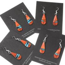 Spiny Oyster Sleeping Beauty Turquoise Teardrop Earrings 39529