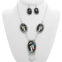 Zuni Turquoise Shell Kachina Necklace 39536
