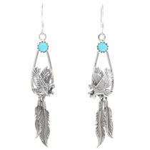 Sterling Silver Turquoise Eagle Earrings 39539