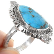 High Grade Turquoise Native American Ring 39543