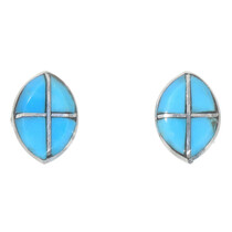 Zuni Inlaid Turquoise Earrings 39542