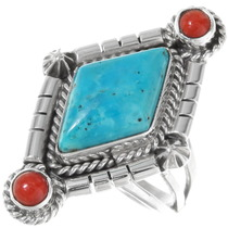 Navajo Turquoise Ladies Ring 39544