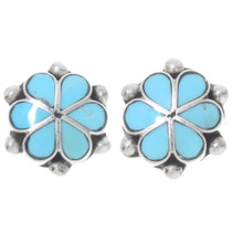 Sleeping Beauty Turquoise Flower Earrings 39545