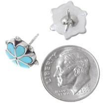 Zuni Inlay Flower Post Earring Studs 39545