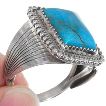 High Grade Kingman Turquoise Silver Ring 39551