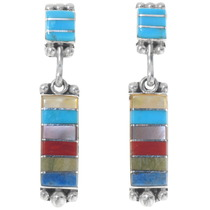 Multi Gemstone Inlay Earrings 39556