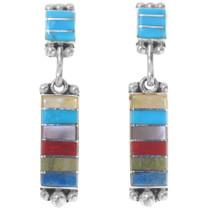 Multi Gemstone Inlay Earrings 39556