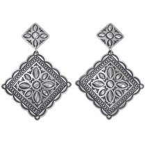 Navajo Sterling Silver Western Earrings 39558