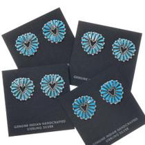 Sleeping Beauty Turquoise Cluster Earrings 39560