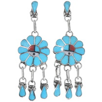 Turquoise Inlay Sunface Earrings 39562
