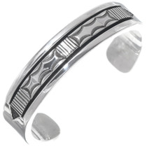 Solid Sterling Silver Navajo Cuff Bracelet 39568