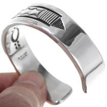 Navajo Made Heavy Gauge Sterling Silver Bracelet 39568