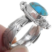 Sterling Silver Turquoise Navajo Ladies Ring 39566
