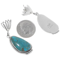 Sterling Silver Turquoise Dangle Earrings 39570