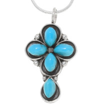 Arizona Turquoise Cross Pendant 39576