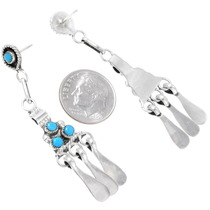 Sterling Silver Zuni Turquoise Earrings 39584