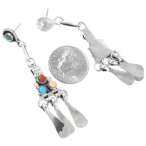 Zuni Silver Multistone Earrings 39585