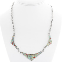 Ladies Inlaid Opal Necklace 39588