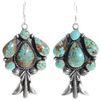 Green Turquoise Navajo Earrings 39592