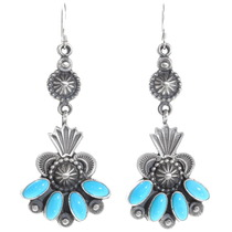 Sleeping Beauty Turquoise Navajo Earrings 39594