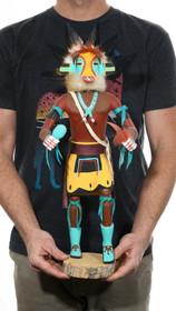 Large Vintage Lizard Kachina Doll Artist Signed 39598
