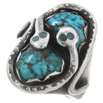 Old Pawn Turquoise Snake Ring 39605