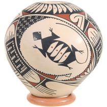 Mimbres Stylized Lizard Design Polychrome Pottery 39613
