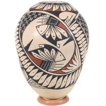 Southwest Native Mimbres Geometric Hand Painted Design Mata Ortiz Pottery 39615