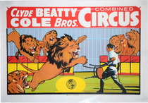 Vintage Clyde Beatty Circus Poster 39626