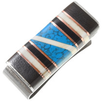 Vintage Southwest Inlaid Turquoise Money Clip 39629