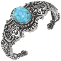 Navajo Turquoise Silver Cuff Bracelet 39630