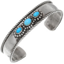 Vintage Navajo Turquoise Silver Cuff 39631