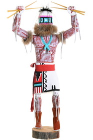 Crazy Rattle Runner Kachina Doll 39647