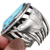 Navajo Made Large Turquoise Bracelet 39652