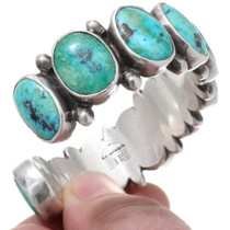 Native American Turquoise Sterling Silver Cuff Bracelet 39654