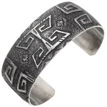 Native American Textured Overlaid Cuff Bracelet 39655