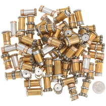 Hand Made Native American Brass Cylinder Beads 37081