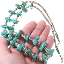 Old Pawn Turquoise Santo Domingo Necklace 39659