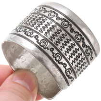 All Sterling Silver Navajo Bracelet 39670
