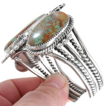 Sterling Silver Kings Manassa Turquoise Cuff 28629