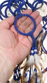 Navajo Made Leather Dreamcatcher 39685