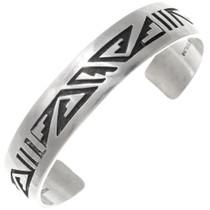 Sterling Silver Hopi Pattern Cuff Bracelet