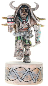 Hopi White Buffalo Dancer Kachina Doll 39690