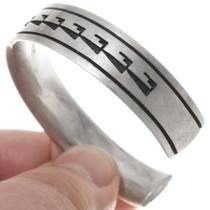 Hopi Pattern Silver Overlay Cuff Bracelet 39691