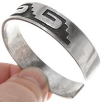 Hopi Pattern Sterling Silver Overlay Bracelet 39698