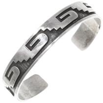Vintage Hopi Overlaid Silver Cuff Bracelet 39698
