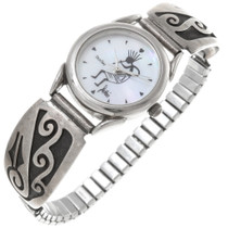 Vintage Hopi Overlaid Silver Ladies Watch 39699