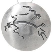Vintage Silver Navajo Yei Pendant Pin 39702